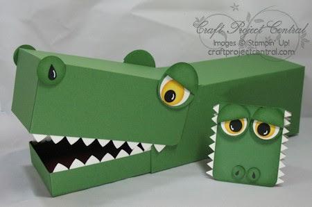 paper punch addiction crocodile valentine box source alligator