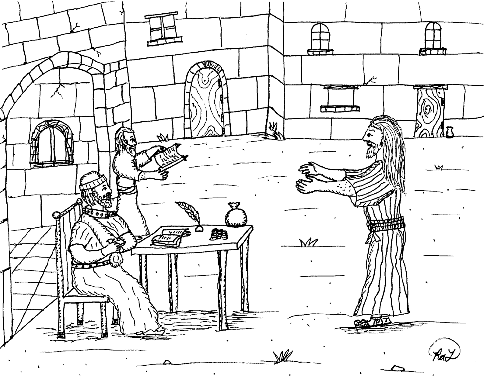 Robin's Great Coloring Pages: Apostle Matthew