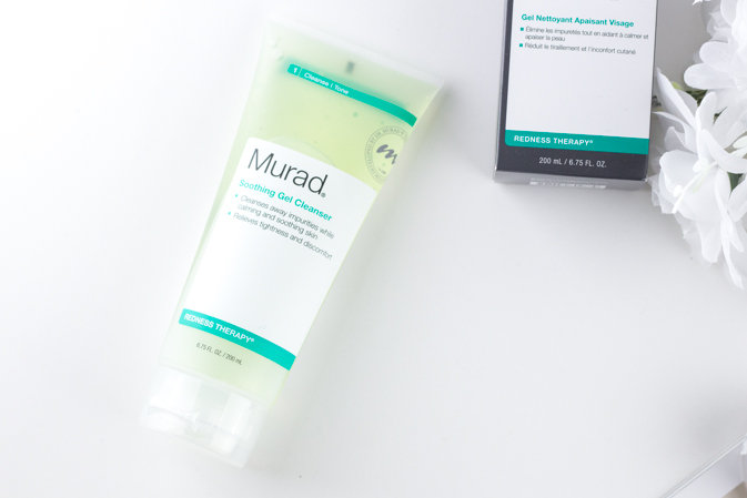murad redness therapy soothing gel cleanser