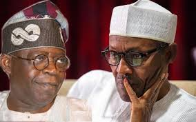 Photos of Bola Tinubu and Muhammadu Buhari