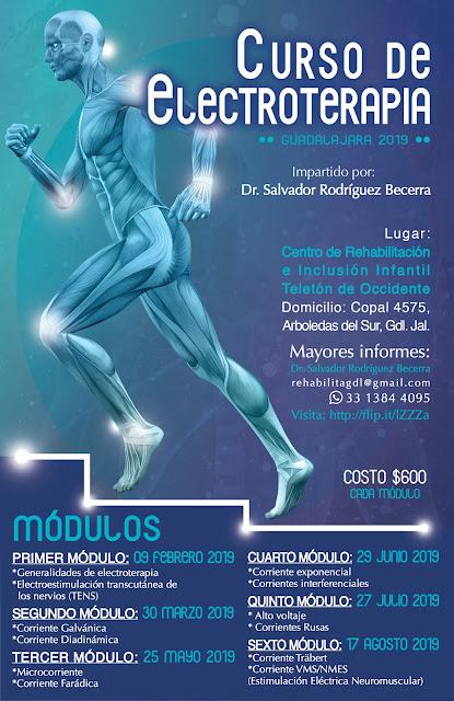 CURSO DE ELECTROTERAPIA GUADALAJARA CRIT OCCIDENTE - FEBRERO - AGOSTO 2019