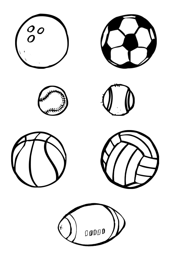 Sports Coloring Page