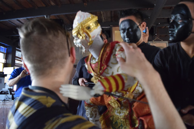 Riverside Artisan Village Puppet Show hug