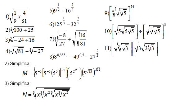 Fracciones Suma Resta Multiplicacion Division Potenciacion Y
