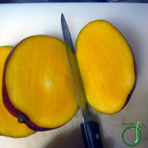 Morsels of Life - How to Cut a Mango Step 2 - Repeat for other side.