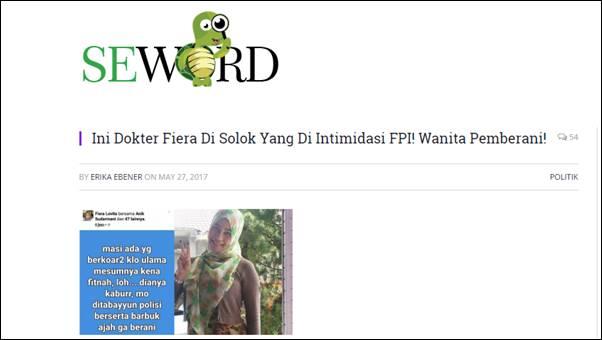 Polisi Duga Ada Pihak yang Adu Domba Dokter Fiera dengan FPI Sumbar