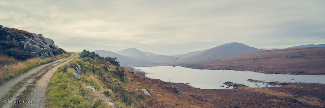 The Inshagh walk and Inshagh Lake in Glenveagh National Park, Co. Donegal