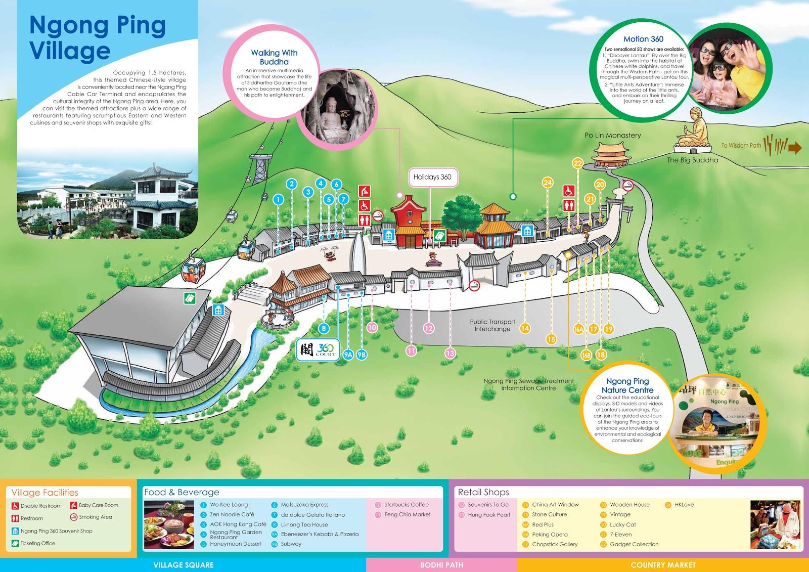 Hong kong day 1 ngong ping village tian tan buddha po lin ngong ping village map click the image to enlarge gumiabroncs Image collections