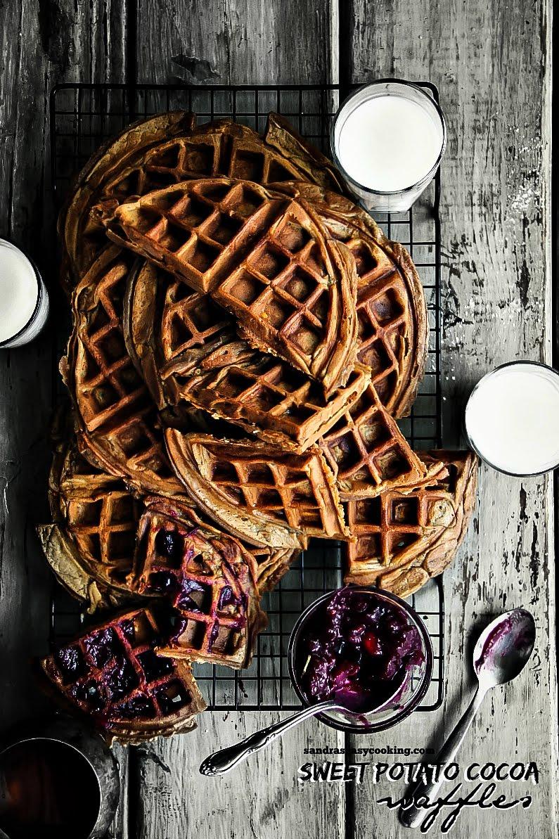 Sweet Potato Cocoa Waffles