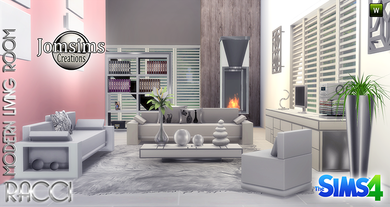 My sims 4 blog racci living room set by jomsims for Sims 4 living room ideas