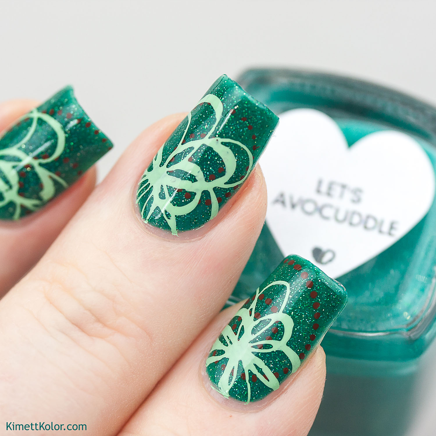 KimettKolor Lets Avocuddle with Stamping Nail Art