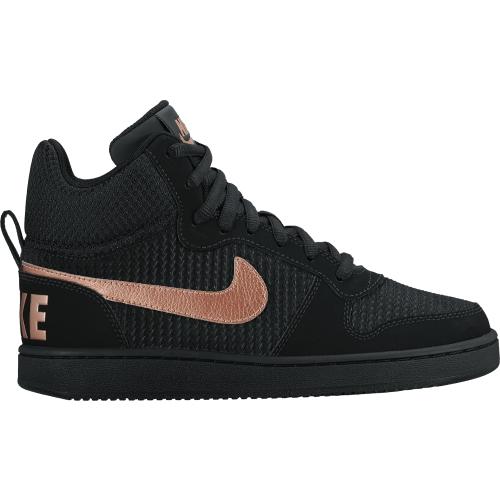 526a81e825a4  54.97) Nike Women s Court Borough Mid Premium Shoes in Black Rose Gold