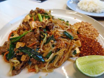 Som Tam, beef pad thai truffle oil