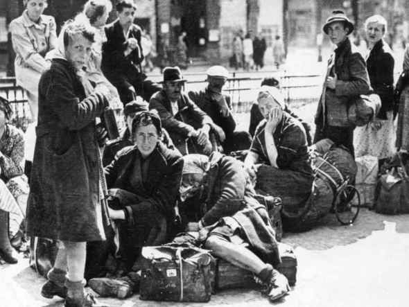 German refugees Berlin 1945