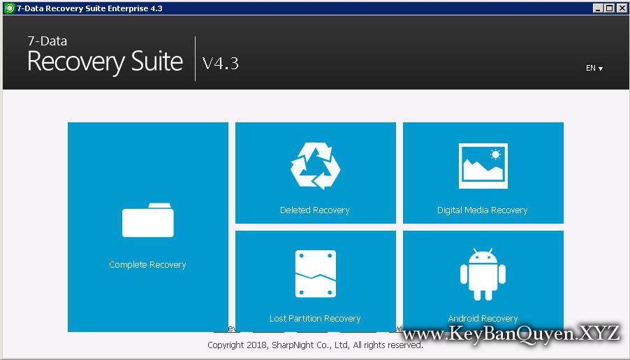 Download 7-Data Recovery Suite 4.3 Full Key, Phục hồi dữ liệu khi xóa và Fomat nhầm.