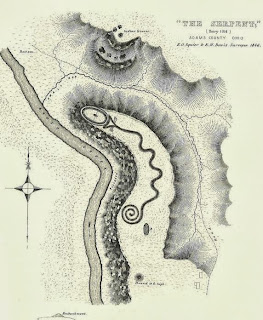 Squire & Davis Print of the Serpent Mound State Memorial