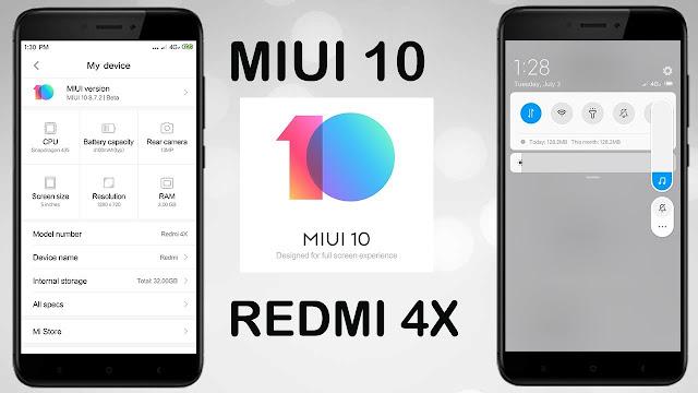MIUI 10 REDMI 4X