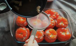 recette pas à pas économique et écologique sans perte tomates farcies et leur sauce