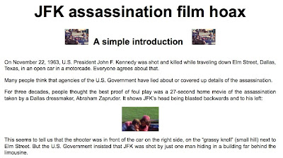 an introduction to the history of the jfk assassination The jfk assassination ap this much we can stipulate: president john f kennedy was assassinated on nov 22, 1963, struck by two bullets — one in the head, one in the neck — while riding in an open-topped limo through dealey plaza in dallas.