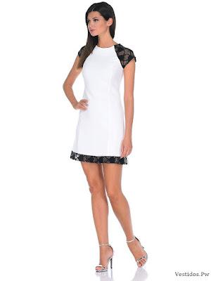 0d7099025 Vestidos de fiesta cortos en blanco y negro – Vestidos de boda