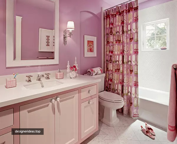 Best 5 Design Ideas for Girls Bathroom, Colorful and Cheery
