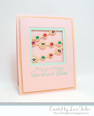 Sparkle and Shine card-designed by Lori Tecler/Inking Aloud-stamps and dies from Lil' Inker Designs