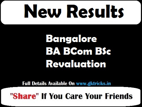 Bangalore BA BCom BSc Revaluation