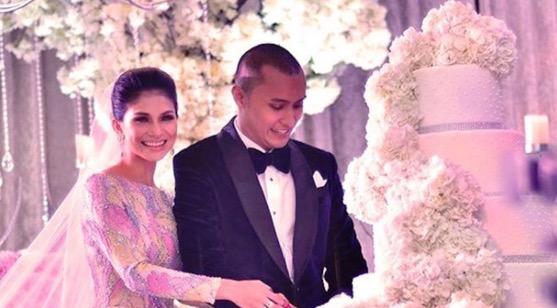 Sekitar majlis perkahwinan Anzalna Nasir dan suami