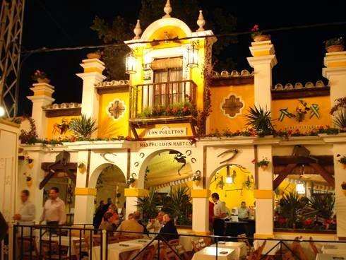 Preciosa ornamentación de una de las casetas de la Feria del Caballo o Feria de Jerez.