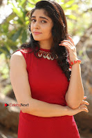 Telugu Actress Zahida Sam Latest Pos in Red Gown at RF Films New Movie Opening  0190.JPG