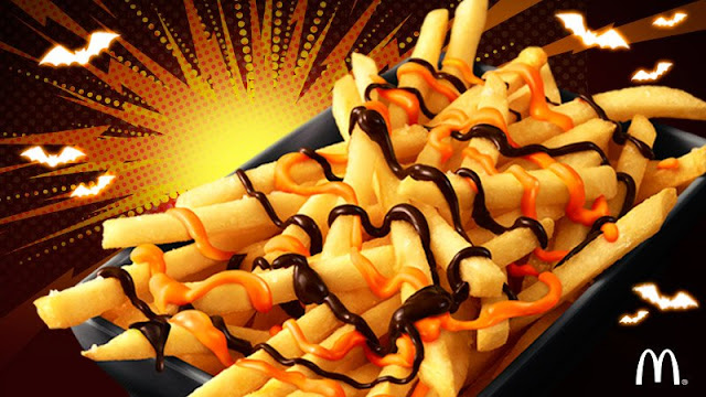 Halloween Choco Pumpkin Fries at McDonald's Japan