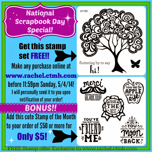 Celebrate National Scrapbook Day with a FREE STAMP SET!!