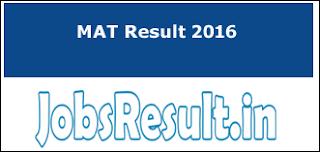 MAT Result 2016