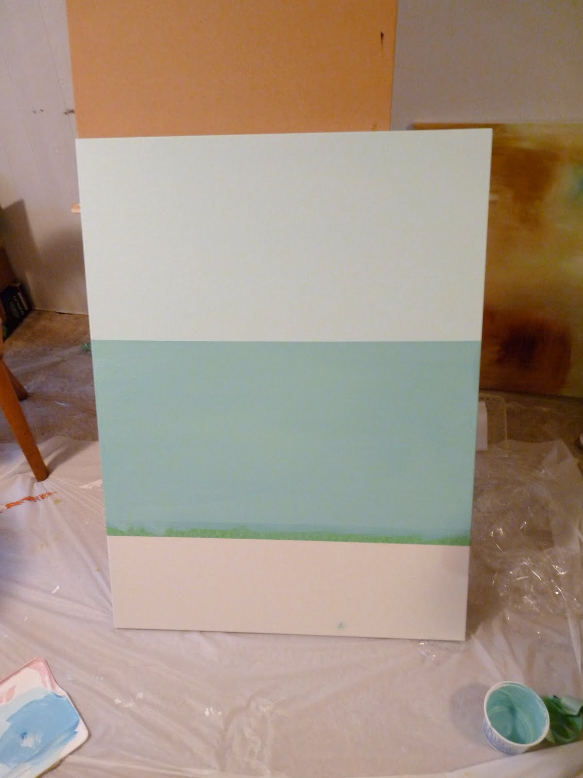 Colour blocked canvas