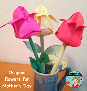 Mother's Day Origami Flowers