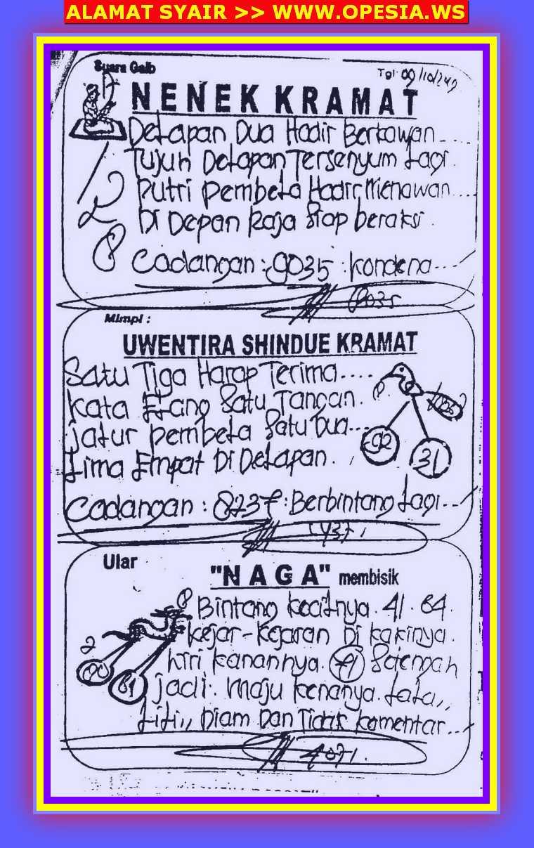 KODE SYAIR SINGAPORE