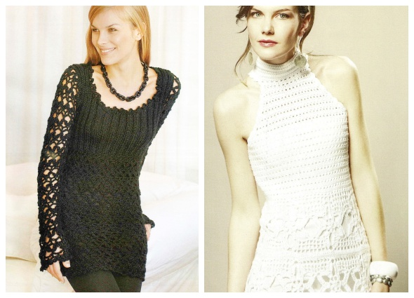 vestidos crochet fiesta, vestidos fiestas ganchillo