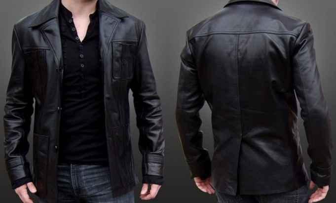 desain jaket kulit imitasi pria dan wanita