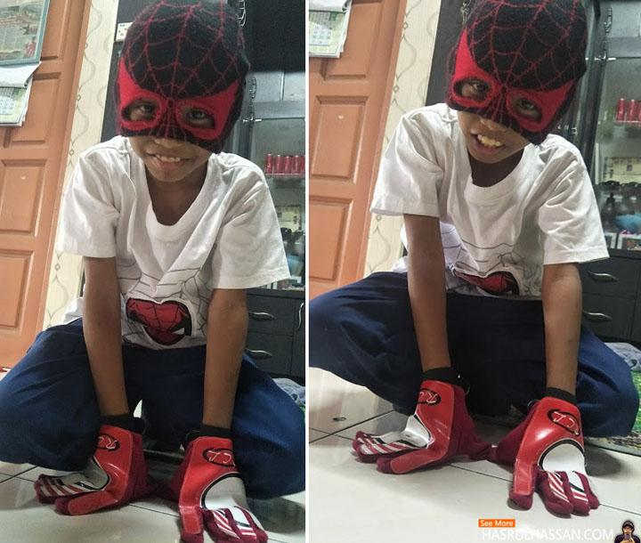 Baju Spiderman Buatan Sendiri