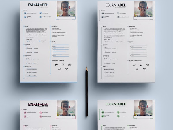Download Resume PSD Template Free