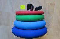 Ladung: Langhantel GEPOLSTERT inkl. Federverschluss / Gewichtsvarianten 2kg 4kg 6kg 8kg 10kg 12kg 14kg 18kg 20kg in unterschiedlichen Farben