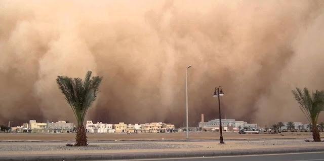 الرياح السطحية تتسب في توقف الدراسة  لمدة يومين في العديد من المحافظات السعودية