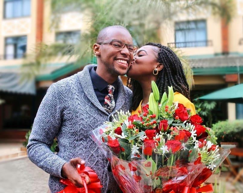 Aaaw. Waihiga Mwaura's Sweet Valentine's Surprise To His Wife Joyce Omondi