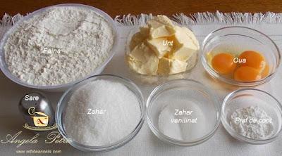 Preparare biscuiti spritati - etapa 1
