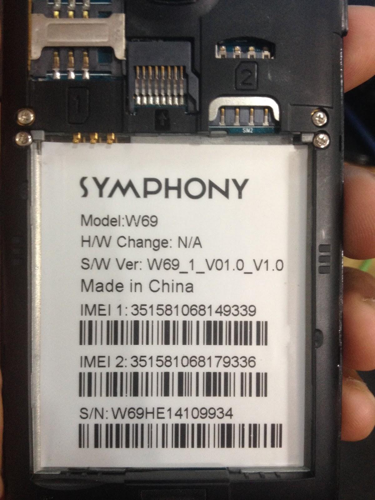 symphony w69 firmware