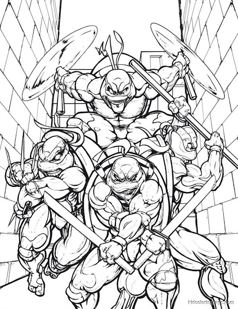 Teenage Mutant Ninja Turtles Coloring Pages Nupeca