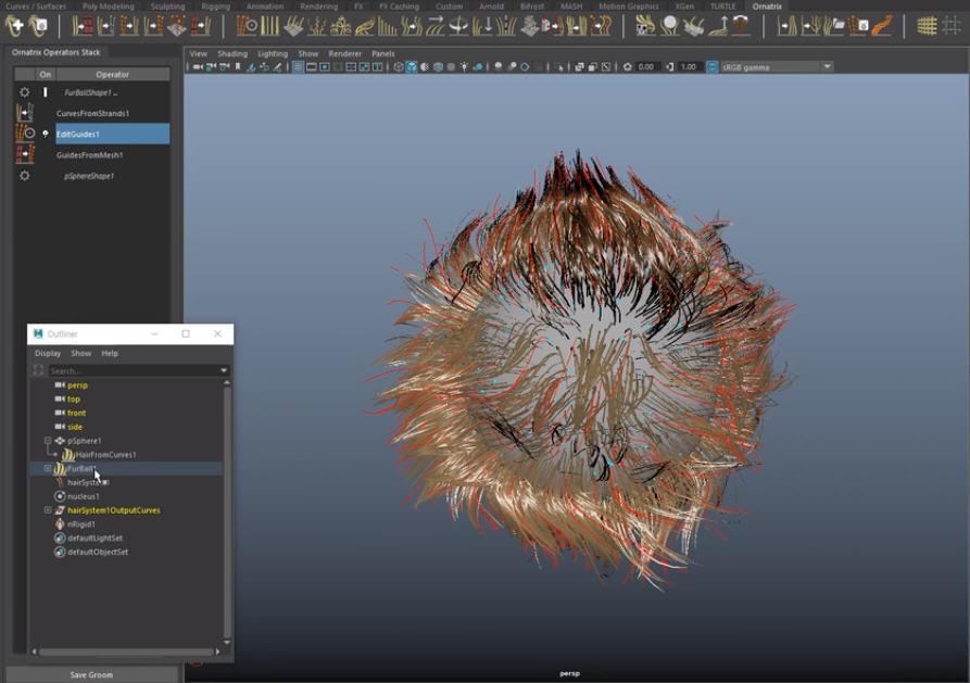 Using Ornatrix with nHair Simulation | CG TUTORIAL