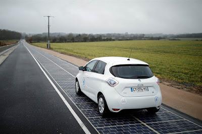 La primera carretera solar a França
