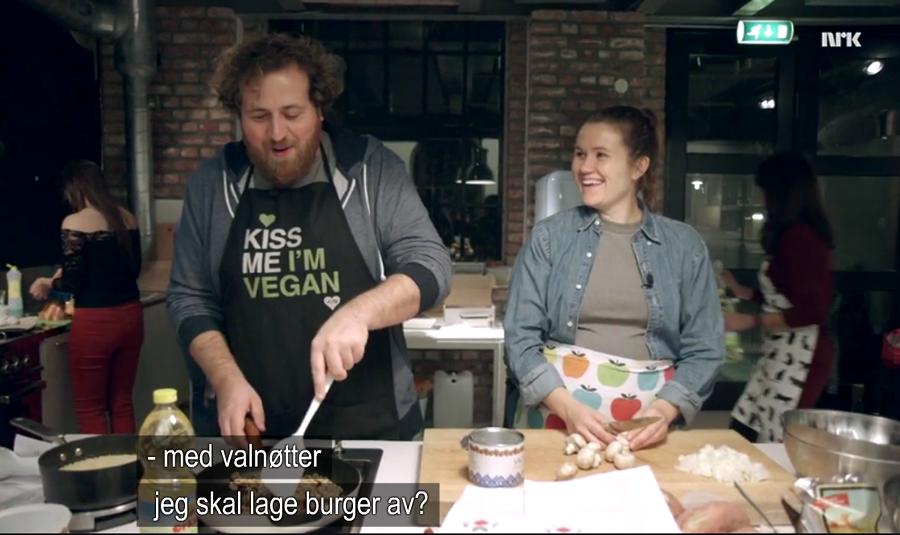 Live Redder Verden Nrk Vegansk Kokkekurs Veganmisjonen Veganmannen Kjøttfri Burger Oppskrift Valburger Valnøttburger