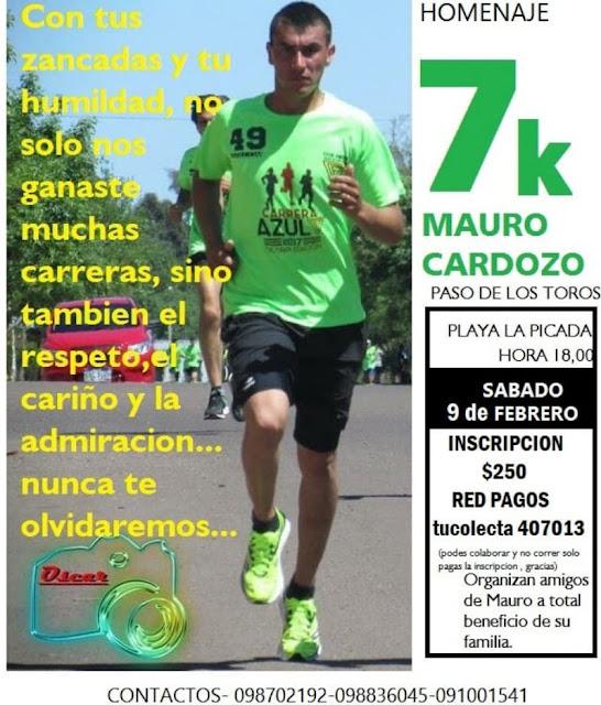 7k Homenaje a Mauro Cardozo en Paso de los toros (Tacuarembó, 09/feb/2019)